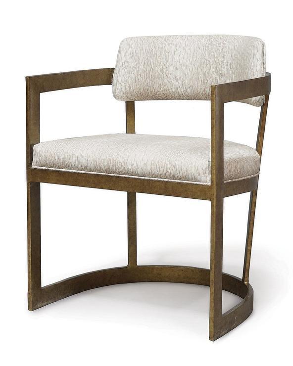 Phenomenal Palecek Tay Curved Brass Arm Chair Theyellowbook Wood Chair Design Ideas Theyellowbookinfo