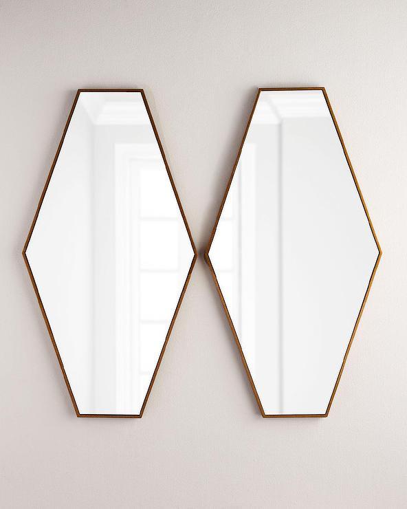 Coaster Gold Hexagon Wall Mirror