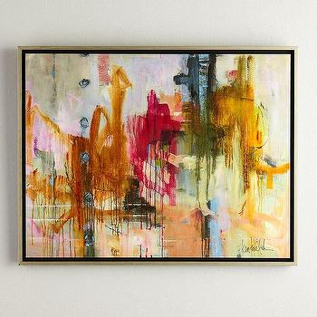 Fawn Beige Abstract Painting