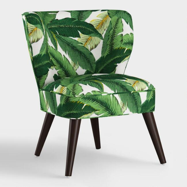 Admirable Carlye Curved Swaying Palm Leaves Chair Machost Co Dining Chair Design Ideas Machostcouk