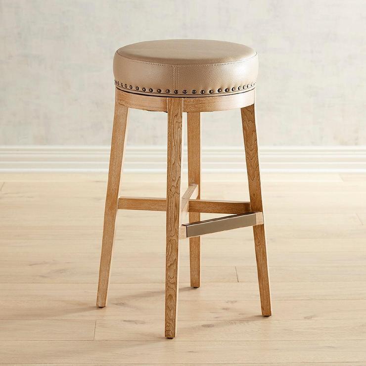 Remarkable Zarah Natural Wingback Upholstered Counter Stool Uwap Interior Chair Design Uwaporg
