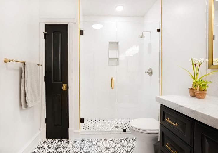 Black And Gold Bathroom Colors Contemporary Bathroom