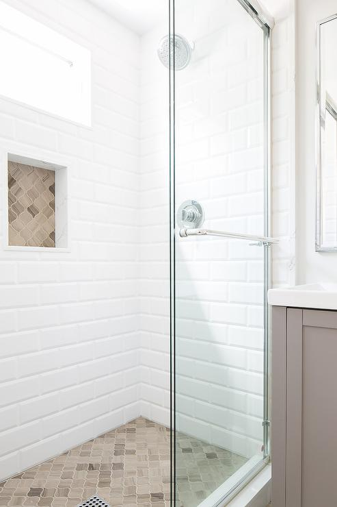 Accent Tiles In Shower Contemporary Bathroom