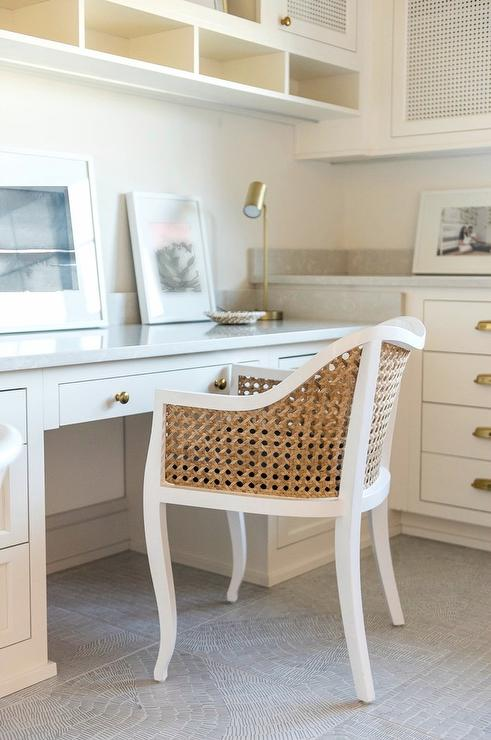 Genial Cane Chair At Built In Desk