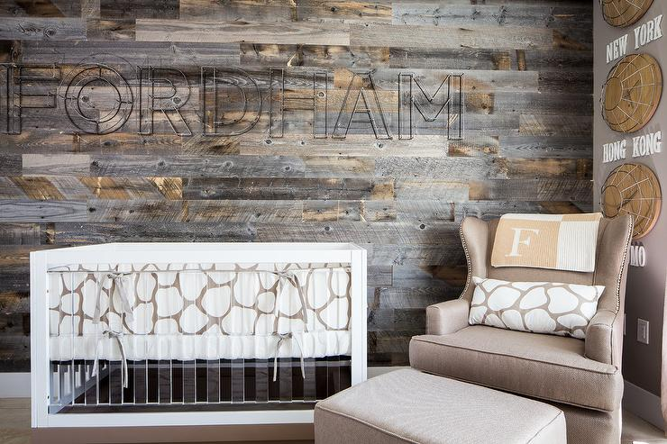 Wood Accent Wall Cottage Boy S Room Jute Interior Design