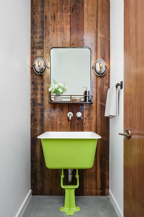 Rustic Washstand With Apron Sink Cottage Bathroom