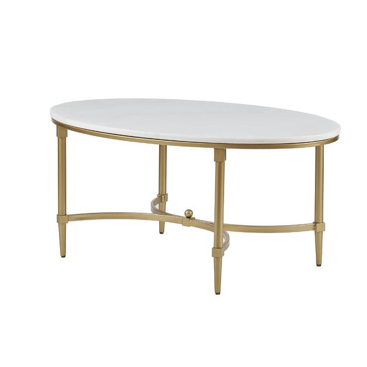 Interlude Home Ashyln Gold Coffee Table
