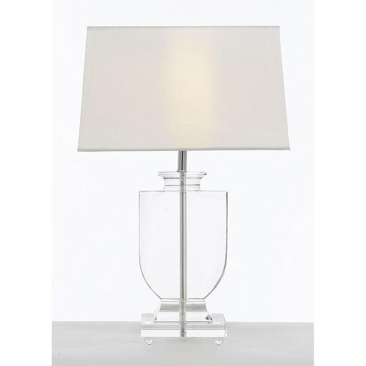 Modern crystal urn glass chrome table lamp