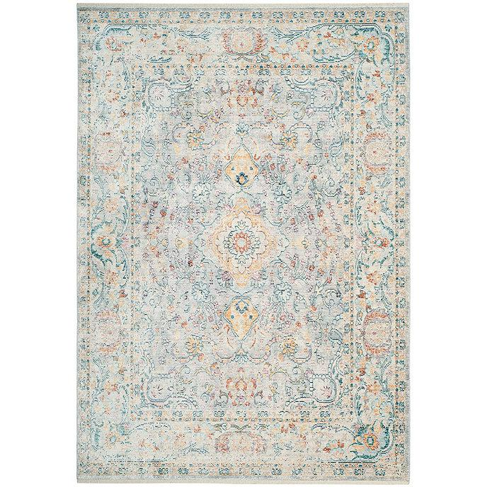 Famous Larisa Blue Cream Medallion Floral Tufted Rug JH53