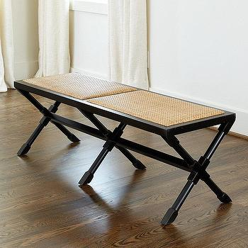 Terrific Clyde Woven Black Bench Products Bookmarks Design Inzonedesignstudio Interior Chair Design Inzonedesignstudiocom