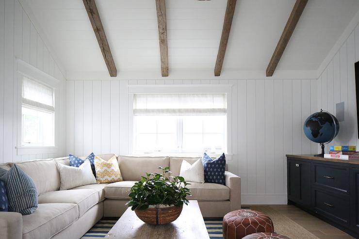 Living Room With Vaulted Ceilings Transitional Living