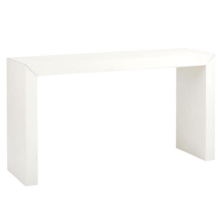 modern white console table. Delighful Modern Rollins White Slender Wood Console Table With Modern E