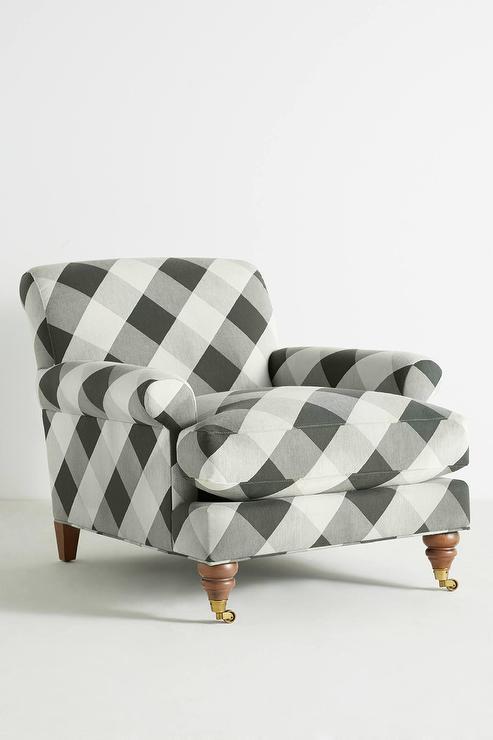 Heatherly Buffalo Check Black White Gold Sofa
