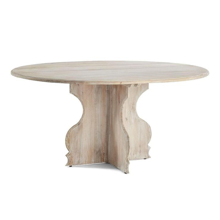 White Wash Wood Dining Table: Swing Out Stools Cafeteria Table