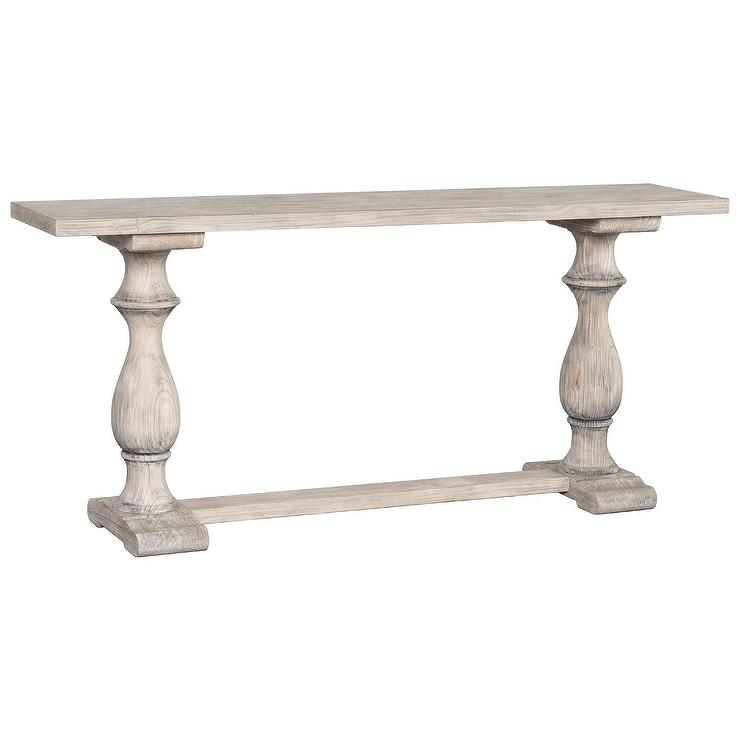 Wakefield Rustic Gray Reclaimed Pine Console Table
