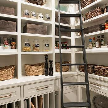 White Custom Kitchen Pantry Design Ideas