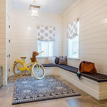 L Shaped Mudroom Bench Design Ideas