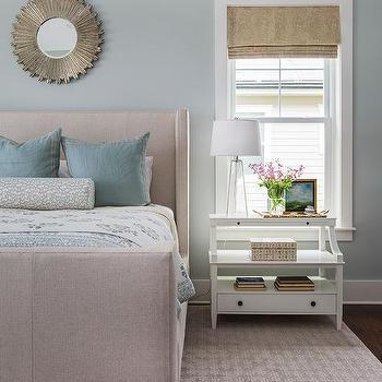 Beige And Blue Bedroom Design
