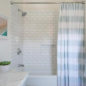 Polished Nickel Shower Curtain Rod Design Ideas