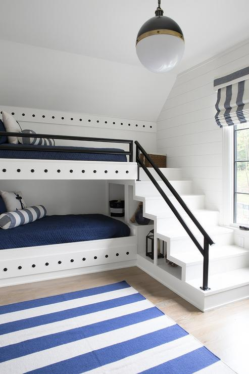 Stacked Bunk Beds Country Living Room At Home In
