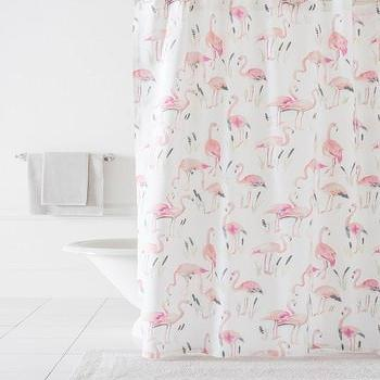 Pine Cone Hill Pink Flamingos Shower Curtain