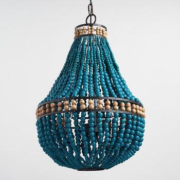 Blue beaded chandelier look 4 less and steals and deals 29999 finds blue beaded chandelier aloadofball Images