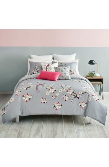 Ted Baker London Flight Gray Floral Bedding