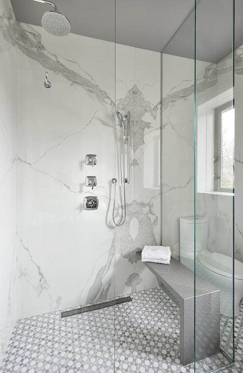 Enclosed Glass Shower Modern Bathroom Space