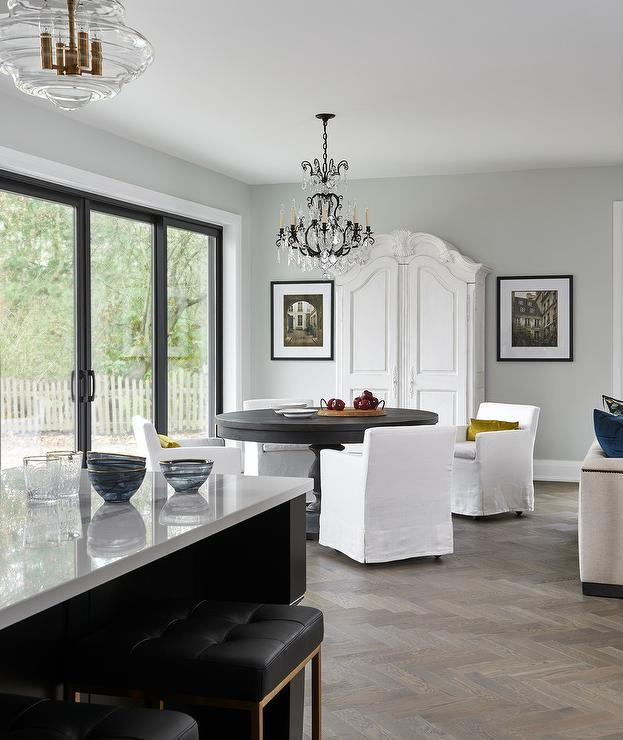 White French Dining Room Armoire - Transitional - Dining Room