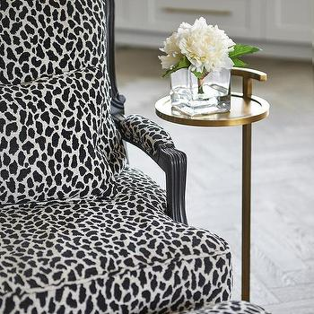 Black And White Animal Print Ottoman Design Ideas