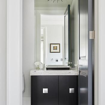 SODA POP Design · Black Washstand with White Marble Top