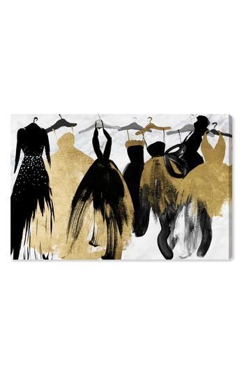 Oliver Gal Black Gold Dresses Canvas Wall Art