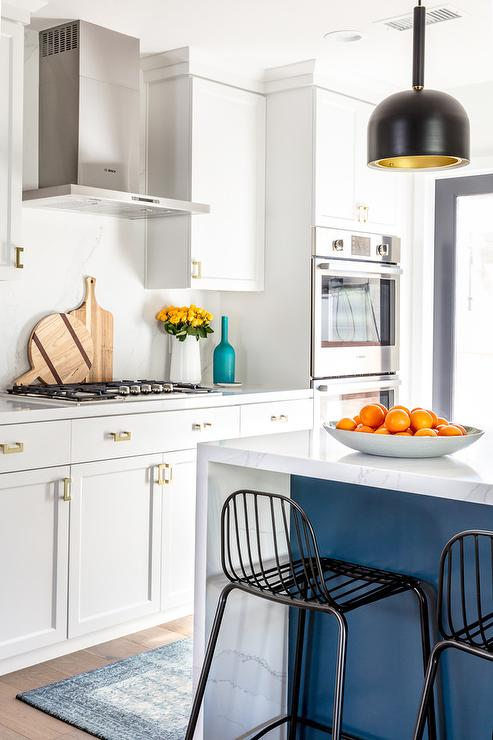 Marble Kitchen Island Contemporary Kitchen Stephani Buchman