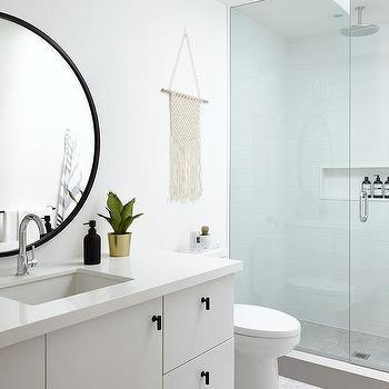 Large Round Black Bathroom Mirrors Design Ideas