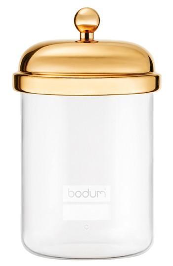 Bodum Classic Gold Lid Glass Storage Jar