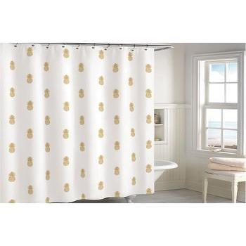 Blush White Gold Shower Curtain Products Bookmarks Design