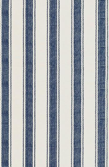 Awning Blue White Striped Cotton Rug