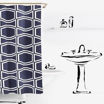 Kate Spade Bow Tile Shower Curtain - Products, bookmarks, design ...