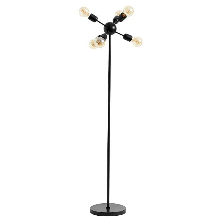 Bulb black metal floor lamp multi bulb black metal floor lamp mozeypictures Image collections