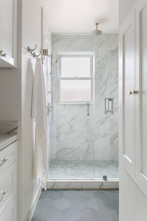 Grey Paint To Match Marble Tiles