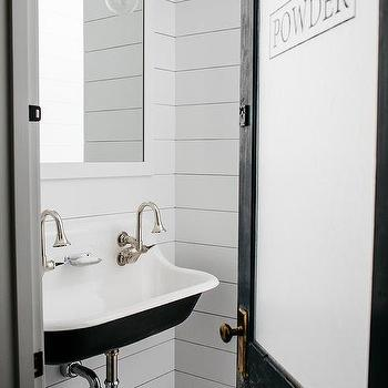 Shiplap Powder Room Walls Design Ideas