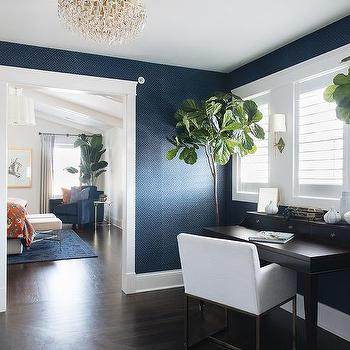 Brown And Blue Office Concept Design Ideas