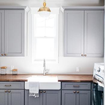 Dark Gray Laundry Room Cabinets Design Ideas