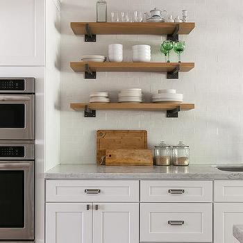Iron And Wood Rustic Kitchen Shelves Design Ideas