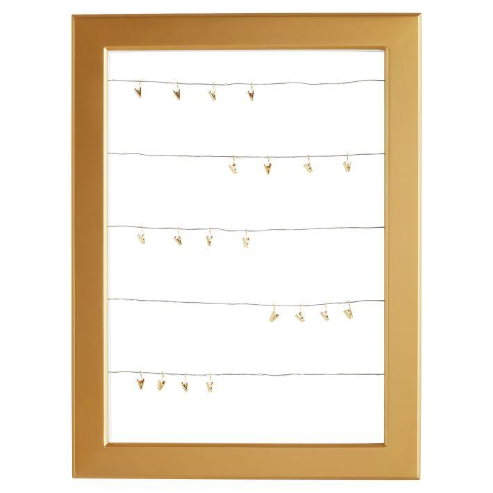 Statement Cable Gold Frame Dry Erase Board
