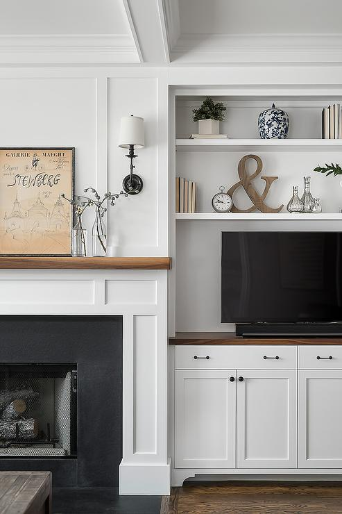 Cabinets Next To Fireplace Design Ideas