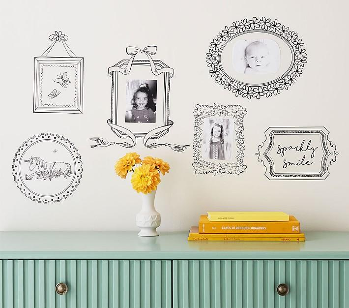 Black Open Frame Wall Decals