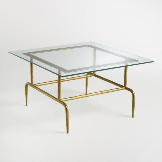 Glass Coffee Table Brass Base: Antique Brass Sculptural Koi Base Coffee Table