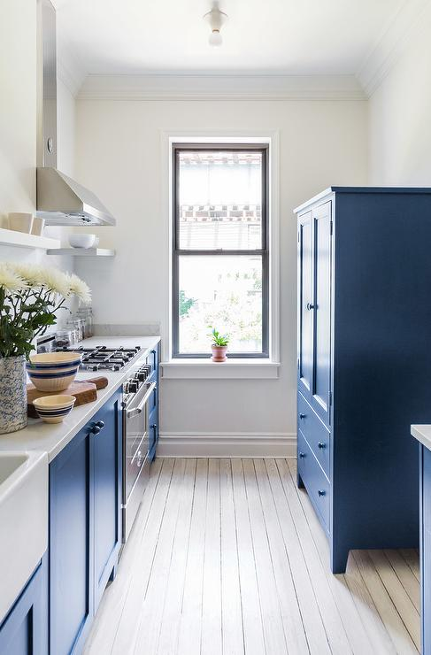 Blue Kitchen Armoire