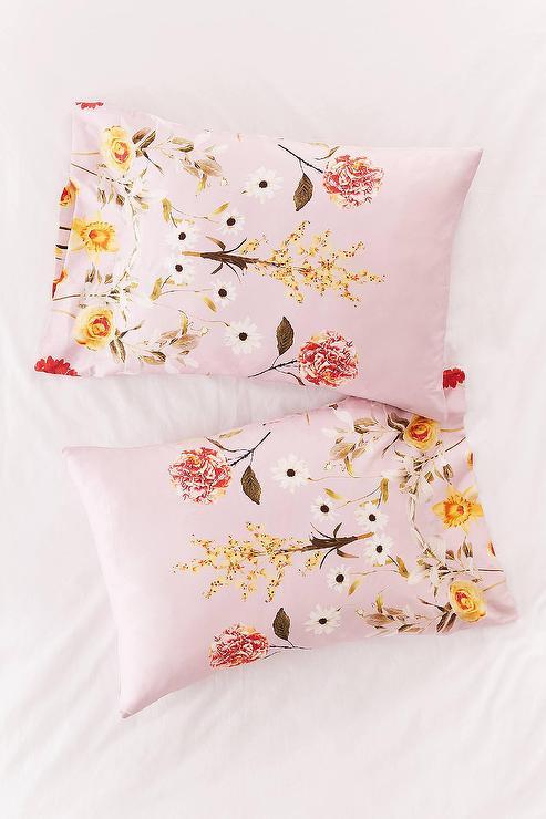 Daniella Pink Floral Pillowcase Set